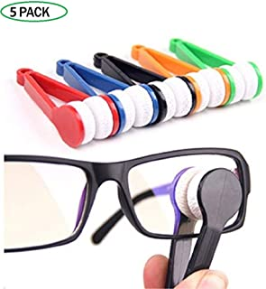 BangDi Mini Sun Glasses Eyeglass Microfiber Spectacles Cleaner Soft Brush Cleaning Chips Mini Microfiber Glasses Eyeglasses Cleaner Tool Random Color