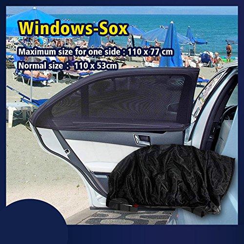 MODIFY-GT - Parasol para coche, rea y ventana delantera, malla magnética, transpirable y elástica, ajuste universal para camión RV, protección UV, 2 unidades