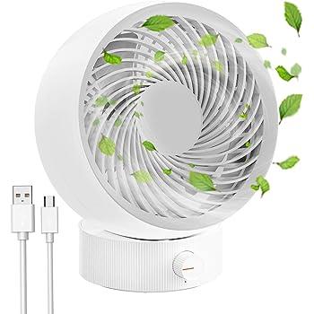 Ventilador de escritorio silencioso con velocidades libres, ventilador de escritorio portátil mini USB RATEL, ajuste de 20 grados, ideal para viajes de oficina en el hogar o escritorios (Blanco): Amazon.es: Bricolaje y