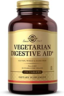 Solgar Vegetarian Digestive Aid Chewables, 100 Tablets - Plant-Based Enzymes - Natural Peppermint Flavor - Digestion Suppo...
