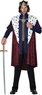 Men's Royal Storybook King Outfit Adult Fancy Dress Halloween Costume