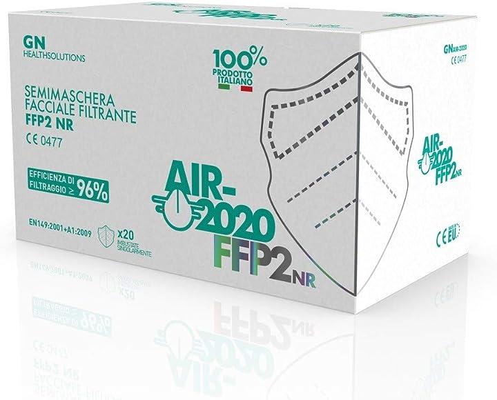 health solutions mascherine ffp2 certificate - sistema nasale antiappannamento air-2020 air-2020_sml