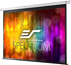 Elite Screens Spectrum Electric Motorized Projector Screen with Multi Aspect Ratio Function Max Size 100-inch Diag 4:3 + 77-inch Diag 16:9, Home Theater 8K/4K Ultra HD Ready Projection, ELECTRIC100V