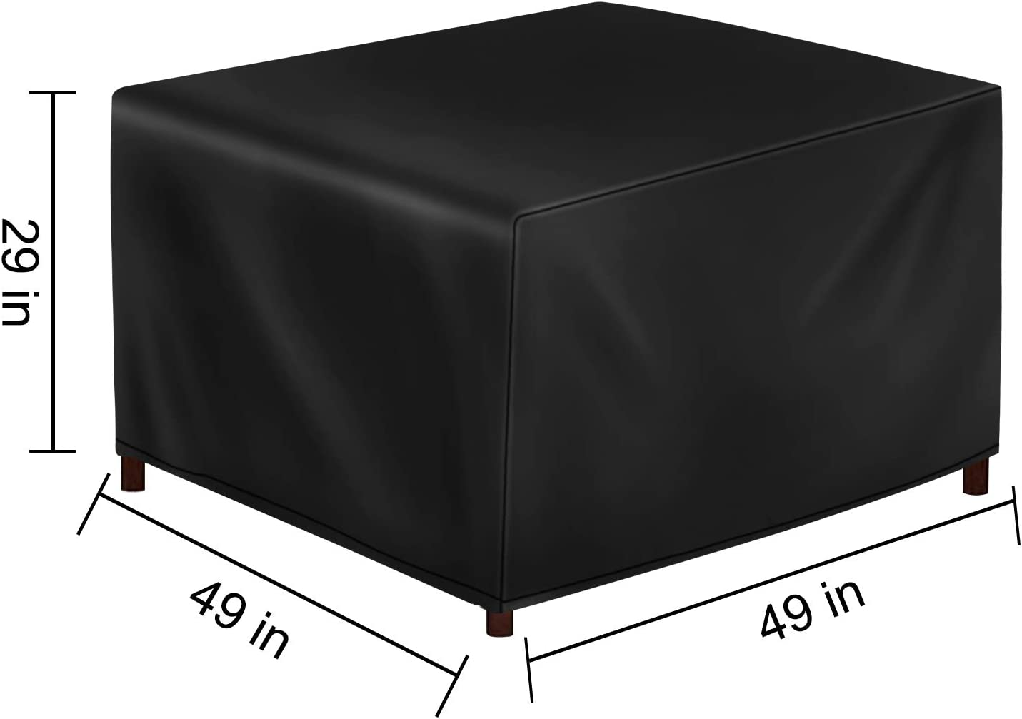 48x48x29inch Windproof /& UV Protection Patio Furniture Cover for Garden Patio Table Cover Outdoor Waterproof Square Table Cover