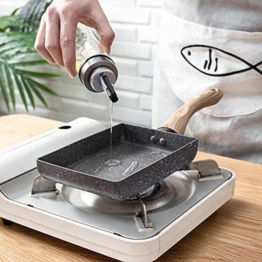 Yxxc Poêle à Omelette antiadhésive Japonaise en Aluminium Poêle à Frire carrée Portable Oeuf poché Petite cuisinière, Gris Noir