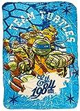 Teenage Mutant Ninja Turtles Raphael, Michelangelo, Leonardo, Donatello Ninja Training Fleece Cozy Throw Blanket (Purple)