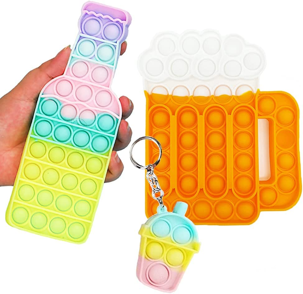 OLPA Year-end gift 3 Pack Fidget Toys Set Sensory Max 49% OFF Bubble Pop Push Toy
