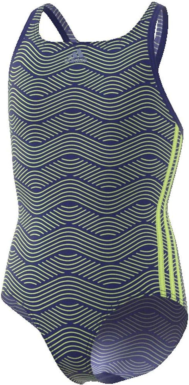 Adidas Mädchen 3 Streifen Allover Print Badeanzug B077TYPSSZ  Karamell, sanft