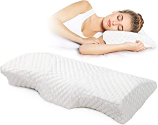 RESTCLOUD Contour Memory Foam Pillow for Sleeping Orthopedic Cervical Pillow for Neck Pain Bed Pillow for Side and Back Sl...