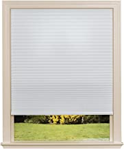 Easy Lift Trim-at-Home Cordless Cellular Light Filtering Fabric Shade White, 36 in x 64 in, (Fits windows 19
