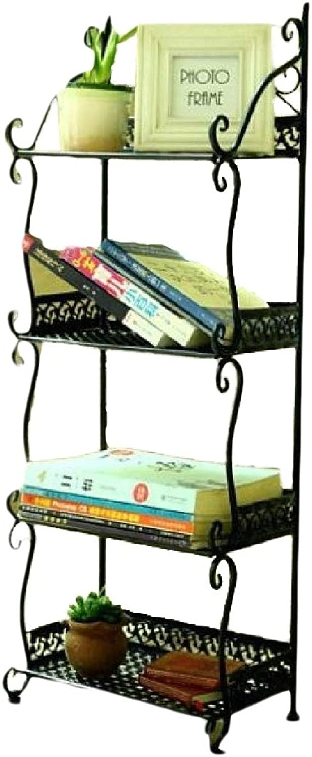 Comaba Shelving Expandable Wire Metal Translucent Embellished Collapsable Kitchen Cabinet Black 3 Shelves