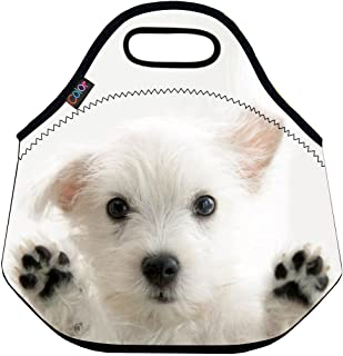 ICOLOR Lovely Dog Soft Insulated Lunch box Food Bag Neoprene Gourmet Handbag lunchbox Cooler warm Pouch Tote bag For School work LB-076