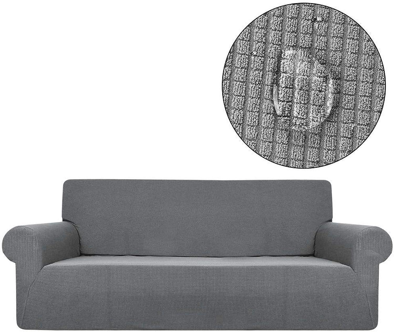 Soundwinds Sofabezug, wasserdicht, Sofa-Überzug, Stretch, elastischer Stoff, Anti-Kratz, Anti-Rutsch, Anti-Rutsch, Anti-Rutsch, Couch-Bezug, Vollkante, einfarbig, Polar Fleece Sofabezug, 3-Sitzer, Sofaüberzug, grau, B07KQ1XQBM 4db8a7