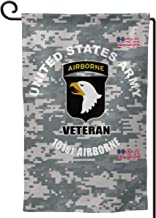 BJHYQSMQ U.S. Army 101st Airborne Logo Garden Flag Party Flag Garden Flag Vertical Double Sided 12.5 X 18 Inch Summer Courtyard Decor Events Family Anniversary