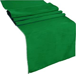 runner linens Table Runner 14x108 Inches Ideal for Wedding, Baby Shower, Home, Restaurant, Party Rental Factory (Kelly Green)