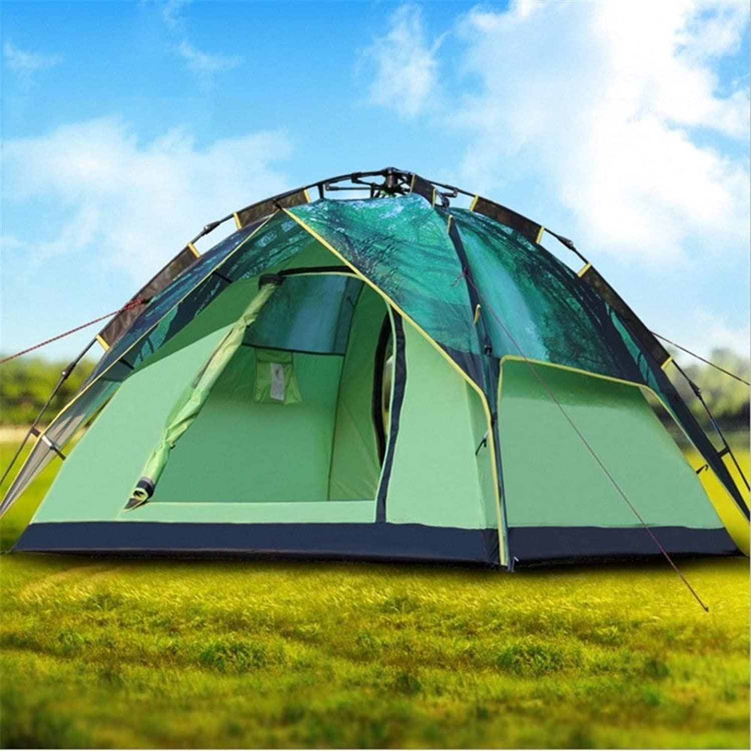 Outdoor Camping Tent 34 People DoubleLayer UltraLight Portable Sunscreen Waterproof Family Friends Fishing Travel Beach Picnic Park Lawn