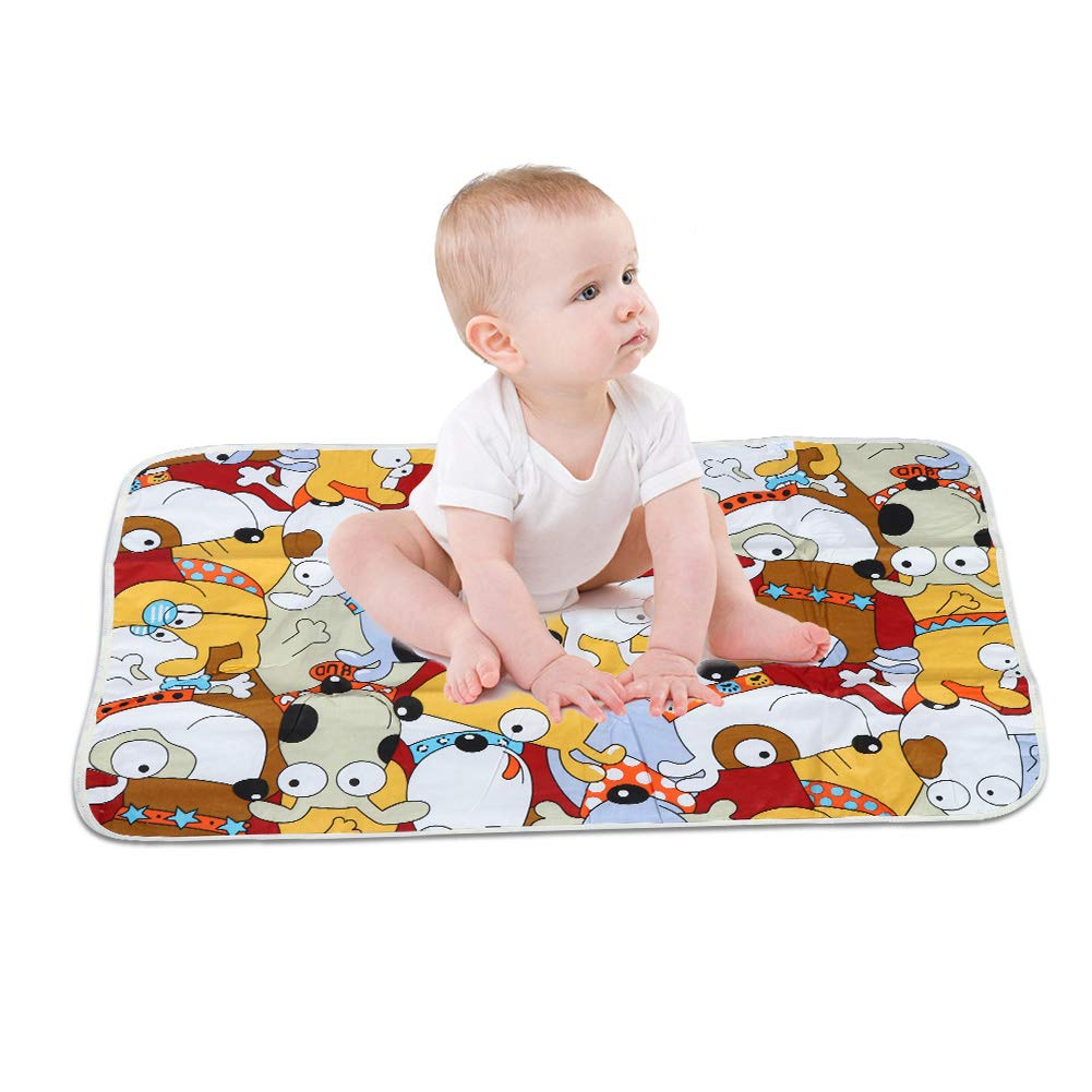 Baby Changing Nappies Pad 23.6235.43in Waterproof Breathable Newborn Baby Mattress Urine Infant Diaper Pad(Dog)