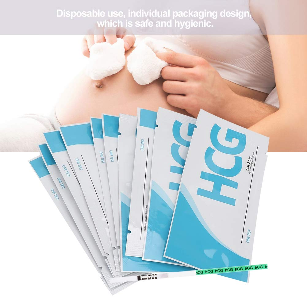 HCG Urine Pregnancy Test, Early Pregnancy Test Strips, Disposable Professional 10Pcs High Sensitivity for Early Pregnancy Test Personal Easy to Operate