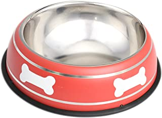 HOUZE Pet Steel Bowl, 18cm, Red