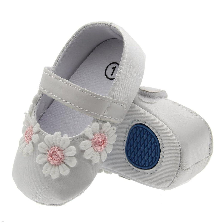 Kukiwa学步靴 花付き  幼児靴 ベビーシューズ 柔らかい 滑め防ぐ 室内履き  履き脱ぎやすい プレゼント 出かけ