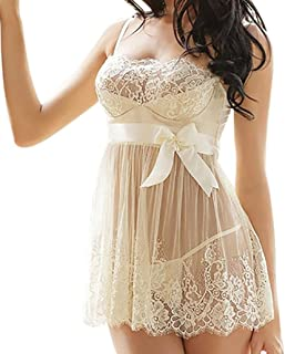 Ausexy Women Lingerie Babydoll Sexy Underwear Lace Nightwear