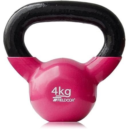 FIELDOOR ケトルベル 4kg / 5kg / 8kg / 10kg / 12kg / 16kg / 20kg / 24kg ソフトなPVCコーティング 音軽減 キズ防止 体幹トレーニング