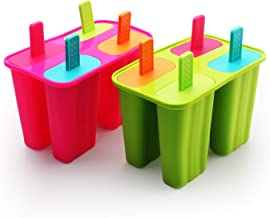 Ice Cream Moulds, Silicone Popsicle Molds Ice Pop Molds Maker BPA Free - Set of 8 - Food Grade Ice Cream Moulds Ice Pops S...