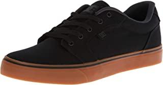 DC Men's Anvil TX Skate Shoe, Black/Gum, Numeric_10_Point_5