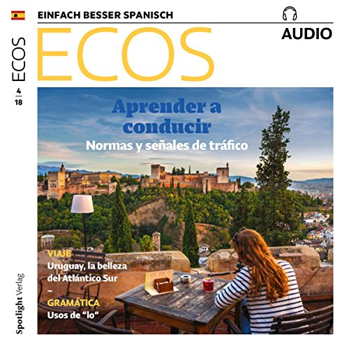 ECOS Audio - Aprender a conducir. 4/2018     Spanisch lernen Audio - Autofahren lernen              By:                                                                                                                                 Covadonga Jimenez                               Narrated by:                                                                                                                                 div.                      Length: 52 mins     Not rated yet     Overall 0.0