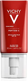 Vichy LiftActiv Sunscreen Peptide-C Face Moisturizer with SPF 30, Anti Aging Face Cream with Peptides & Vitamin C to Brighten & Firm Skin, Reduce Wrinkles & Dark Spots