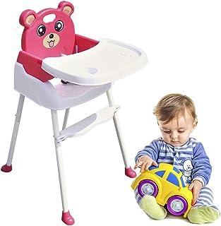 WUPYI2018 Chaise Haute Pour bébé,Chaise Pliante Bébé,réglable hauteur,avec Ceinture De Sécurité, Plateau Clisable