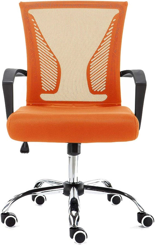 Modern Home BKorange Zuna Mid-Back Office Chair, Black orange