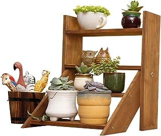 Strong Sturdy Flower Holder Ladder Flower/Plants Rack/Shelf Wooden Standing Movable Desktop Shelf For Plant Flower Pots Ho...