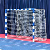 FORZA Alu80 Competition handball goals | Professional Goals For Tournaments [Net World Sports] (Pair, Blue And White)