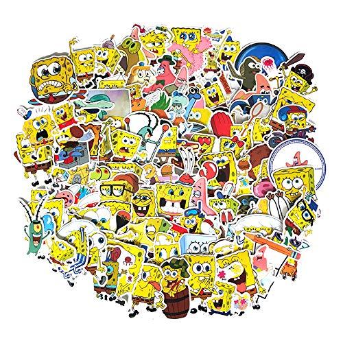 スポンジボブ Sponge Bob ステッカー 100枚セット PVC 防水 シール アニメ キャラクター [並行輸入品]