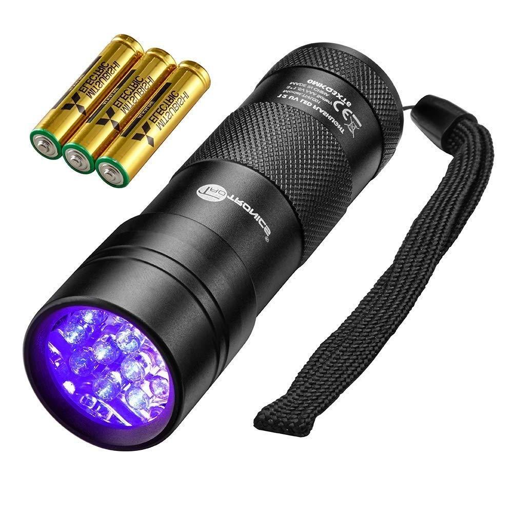 TaoTronics Blacklight Flashlights Detector Batteries