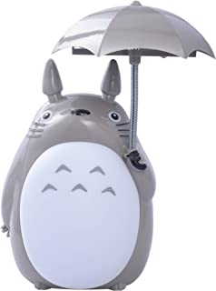 ONE250 My Neighbor Totoro Anime Lamp, Totoro Umbrella LED Night Light Kid's Character Desk Night Table Reading Lamp with USB Charger (White Belly)