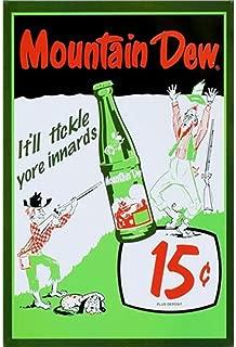 Mountain Dew Retro Poster Prints Signs Garage,Vintage Prints for Shop Bar Pub Club Car Wash Garage,Great Birthday Gifts Posters
