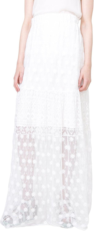 Desigual Womens Valencia Woven Long Skirt Skirt