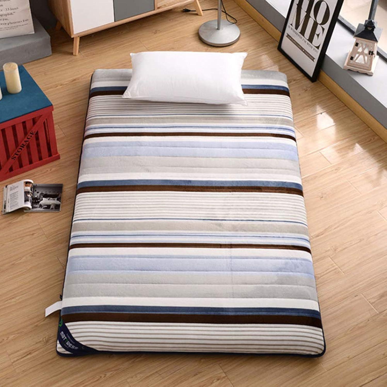 Japanese Floor Futon Mattress, Thicken Plush Mattress mat Topper Pad Bed roll Bay Window Cushion for stdudent Dorm Home Meditaion -B 90x200cm(35x79inch)