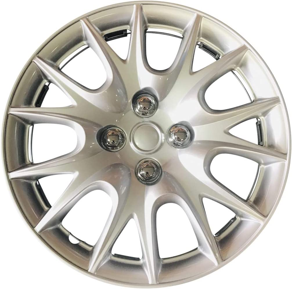 MWC Hubcaps Wheel Popular brand in the world Covers Max 79% OFF Set 13-inch 4 Silver-Lacquer