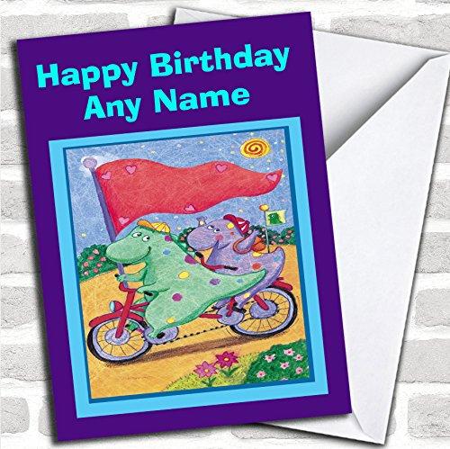 Leuke Dinosaurussen Verjaardagskaart voor kinderen met envelop, volledig gepersonaliseerd, snel en gratis verzonden