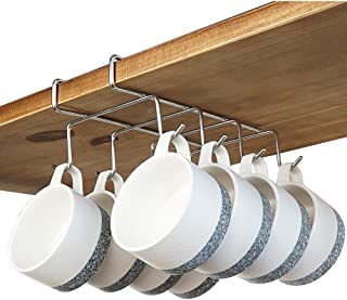 bafvt Coffee Mug Holder - 304 Stainless Steel 8 Hooks Cup Rack Under Shelf, Fit for The Cabinet 0.8