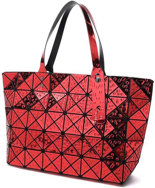 Ladies Handbag Tote Bags for Women PU Leather Shoulder Bag Multicolor Handbags Casual Bag (color   Red, Size   34  27cm)