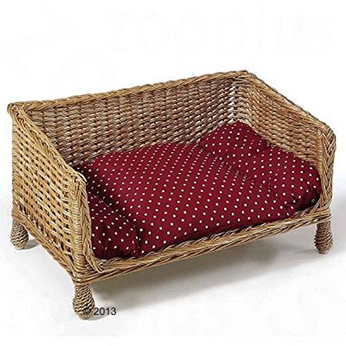 Aumuller Wicker Cats Dogs Sofa Cushion Handwoven
