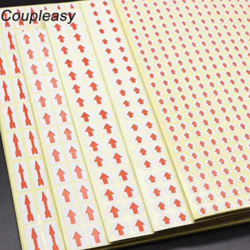 Diameter 6/8/10mm Creative Round Red Arrow Stickers Home Office School Supplies Fault Mistake Defectives Marking Label Stickers
