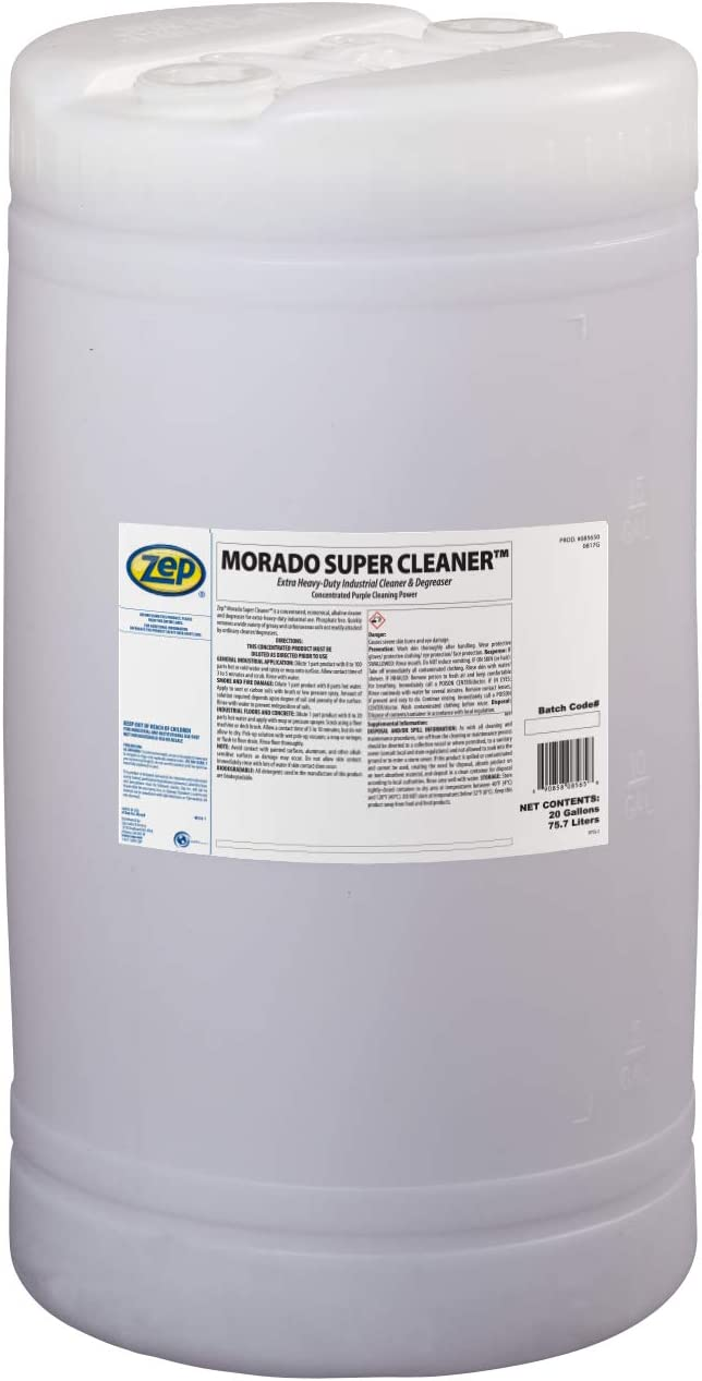 5% OFF Zep Morado Concentrated Super Cleaner 20 1 85650 Now free shipping Gallon In Drum