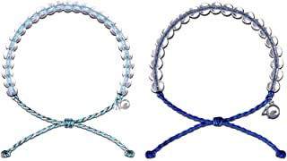 4Ocean Bracelet 2 Pack Made from 100% Recycled Material Upcycled Jewelry 2pk Combo Dolphins (Aqua-Grey/Blue)