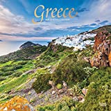 Greece 2021 12 x 12 Inch Monthly Square Wall Calendar with Foil Stamped Cover, Scenic Travel Europe Greece