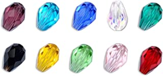Creative Club Wholesale Mix Lots Teadrdrop Crystal Beads (500pcs) 8x6mm Beads #5500 with Container Box #CCS24